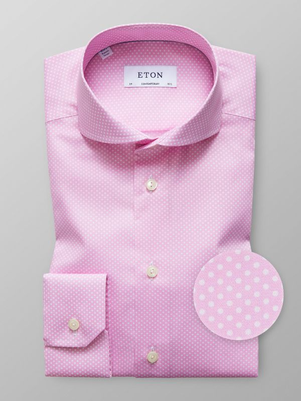 Pink Twill Polka Dot Shirt