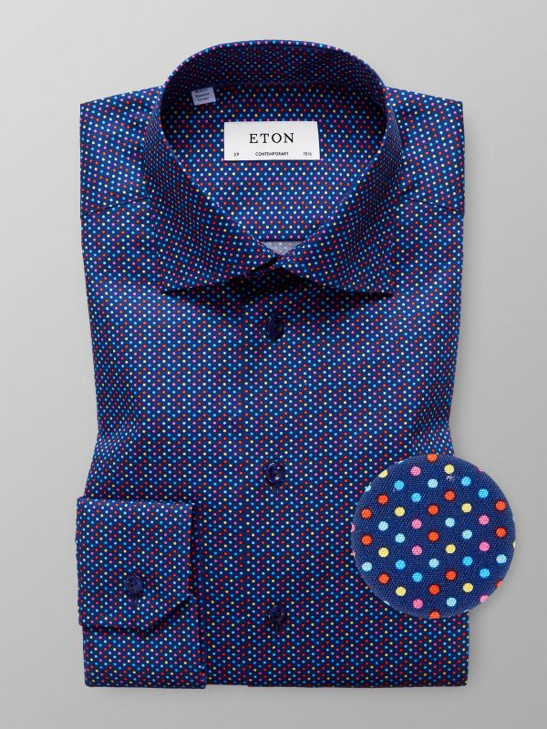 Multicolour Dotted Twill Shirt