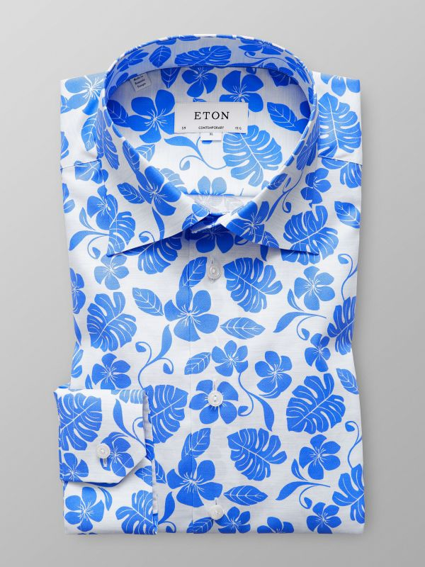 Palm Tree Print Mélange Shirt