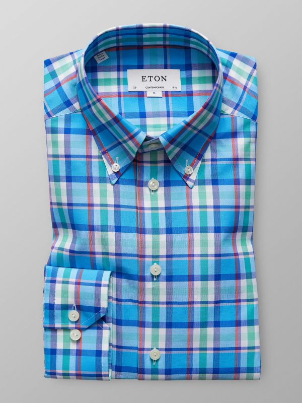 Multi Check Button-Down Shirt
