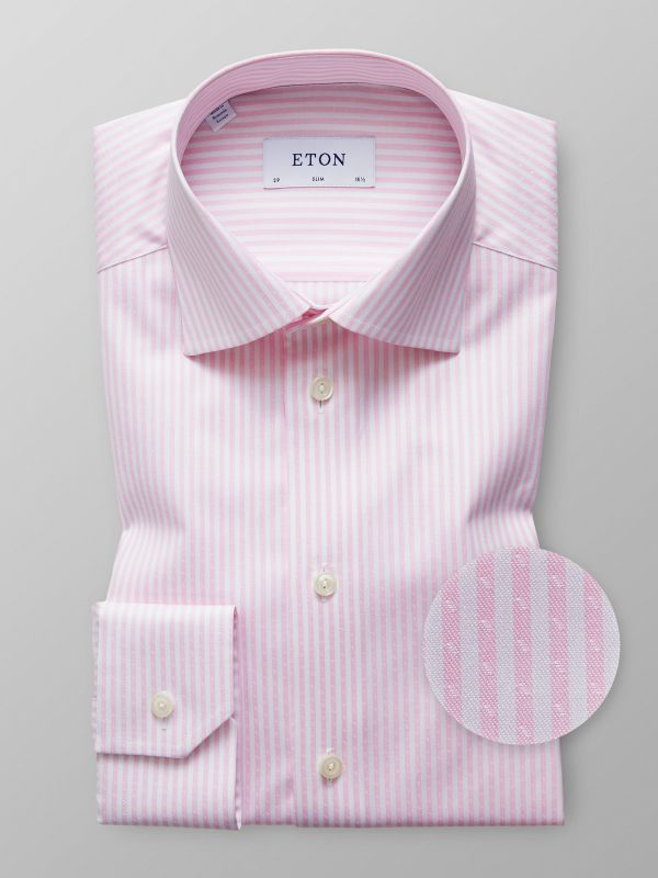 Pink Striped Twill Shirt