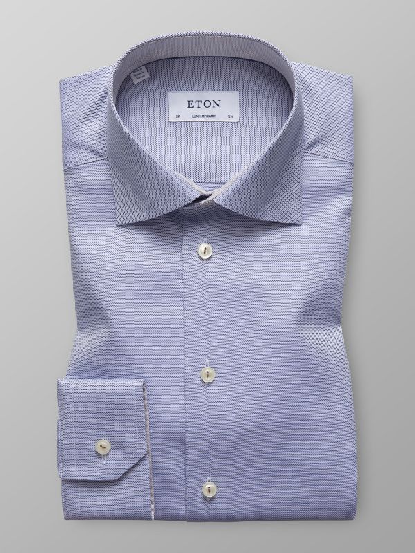 Blue Twill Shirt with Details