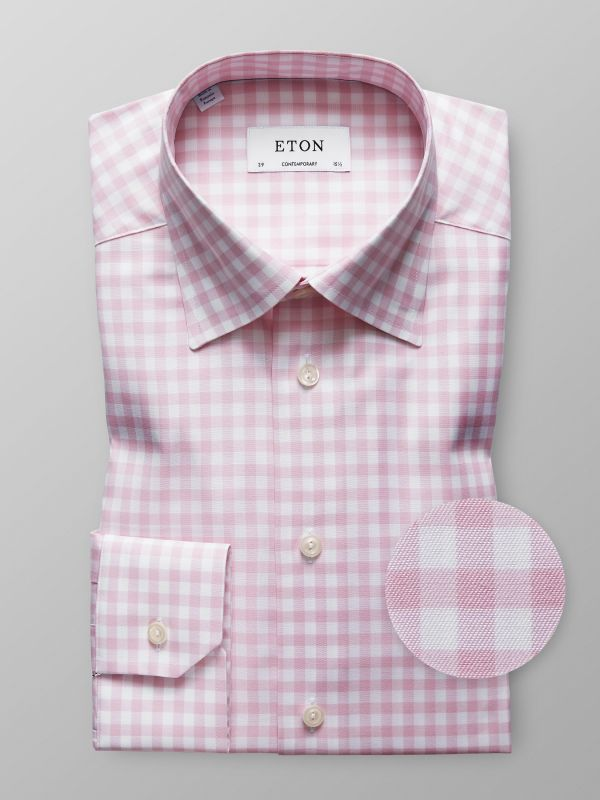 Pink Gingham Check Shirt