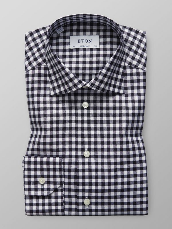 Grey Gingham Check Shirt