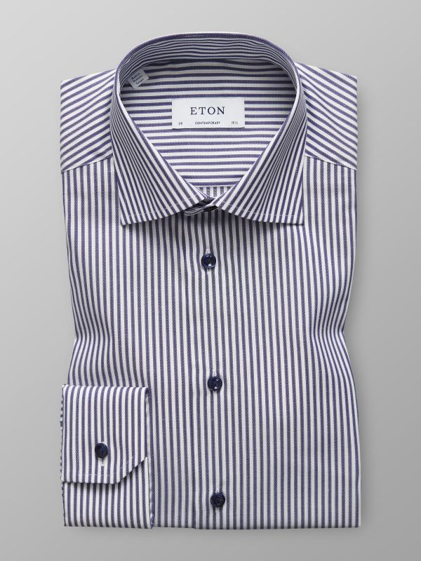 Blue & White Striped Shirt