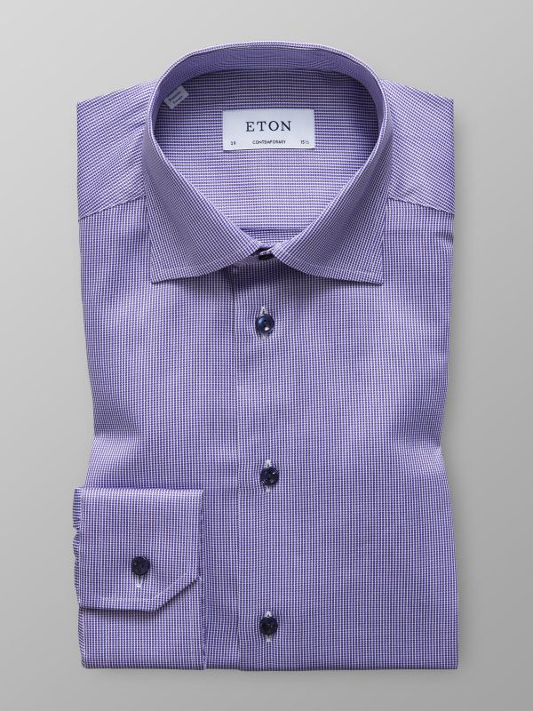Purple Micro Weave Shirt