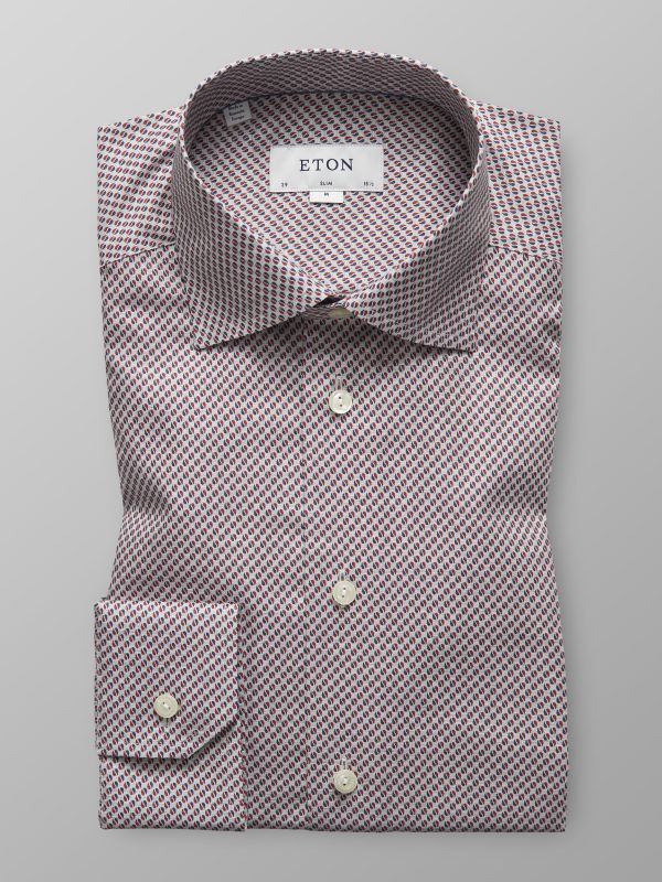 Red Dots Print Twill Shirt