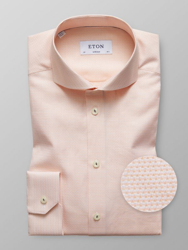 Orange Micro Weave Twill Shirt