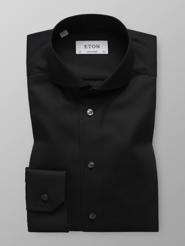 Black Sablé Shirt