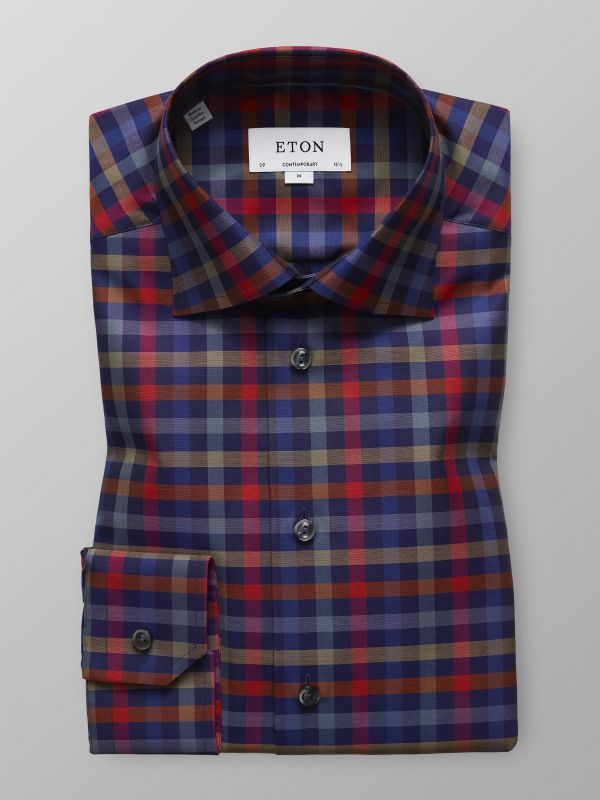 Multi-Colour Check Twill Shirt