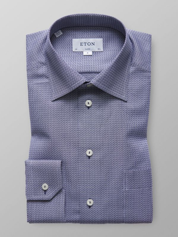 Navy Twill Shirt - Navy Details
