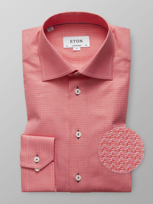 Red Twill Shirt - Navy Details