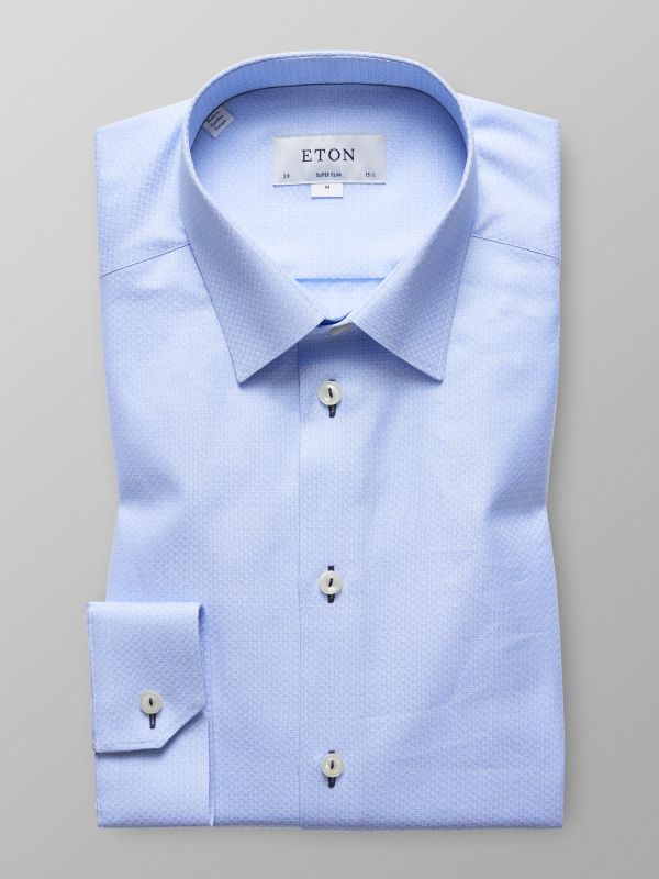 Blue Twill Shirt - Navy Details