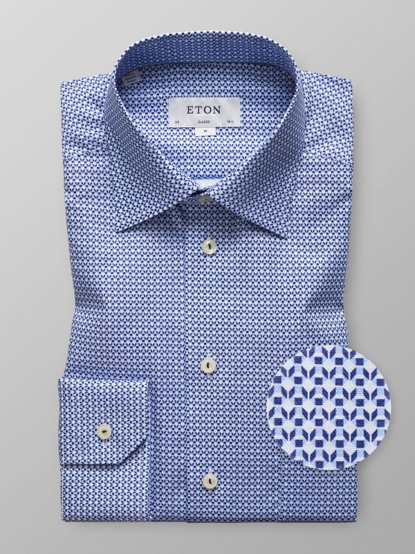 Geometric Print Twill Shirt