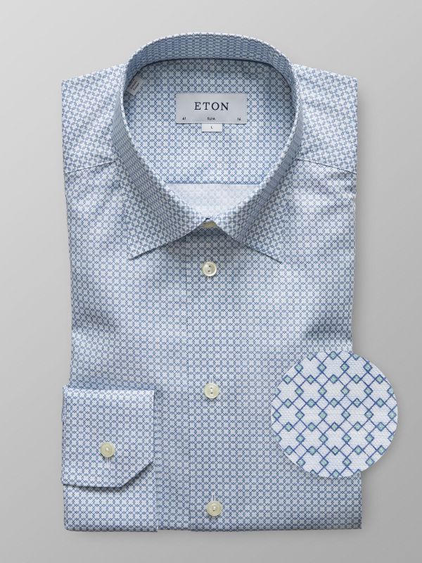Blue Geometric Shirt