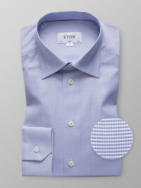 Blue Check Button-Under Shirt