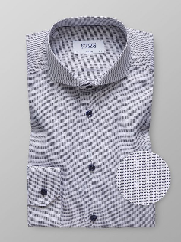 Navy Micro Check Shirt