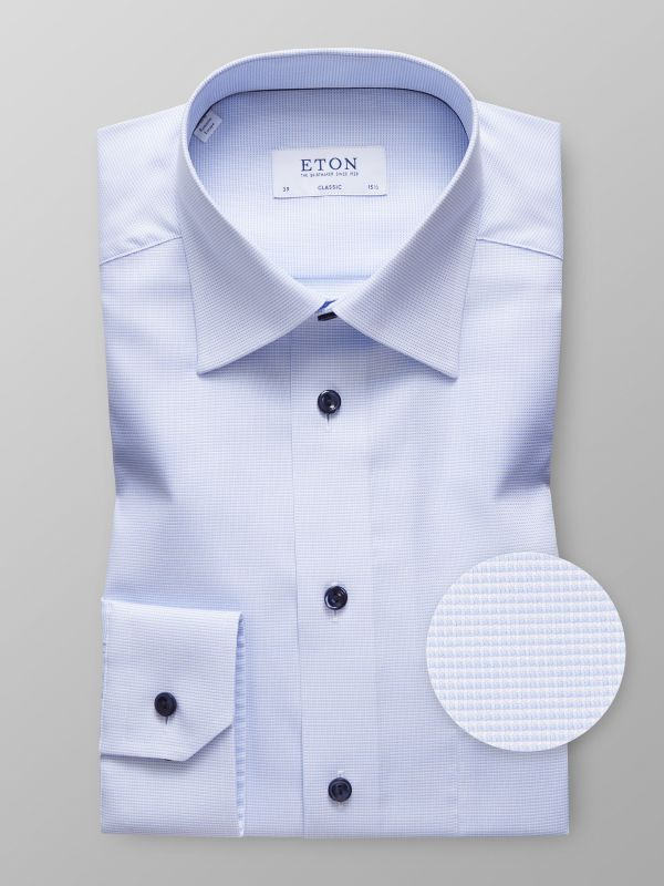 Sky Blue Micro Check Shirt