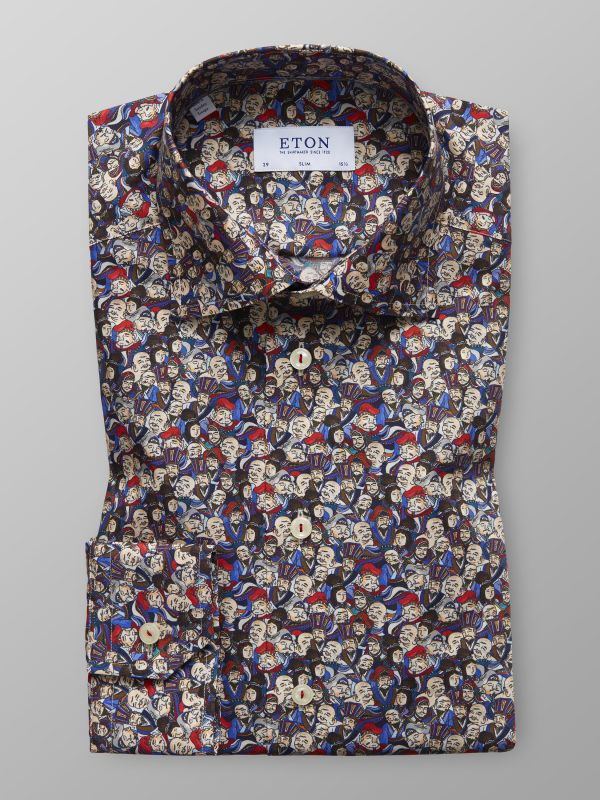 Japanese Design Print Shirt
