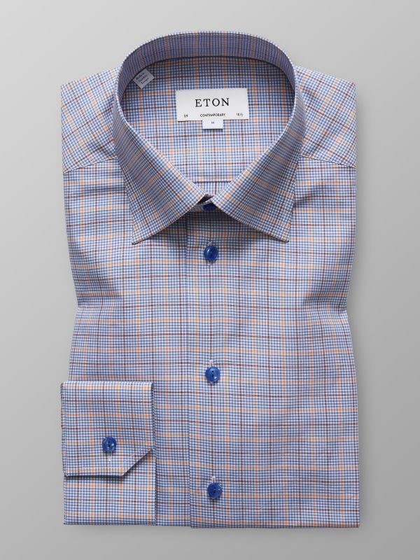 Blue & Orange Check Shirt