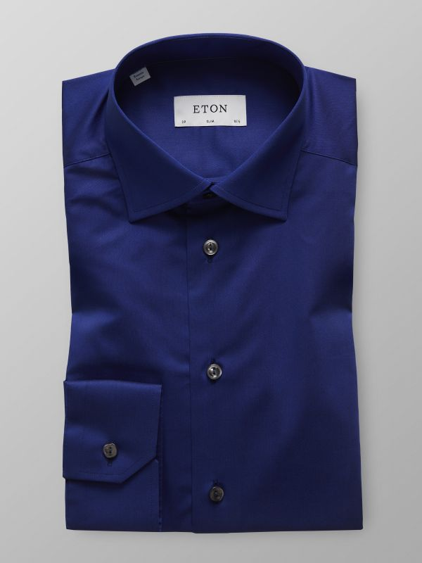 Navy Twill Stretch Shirt
