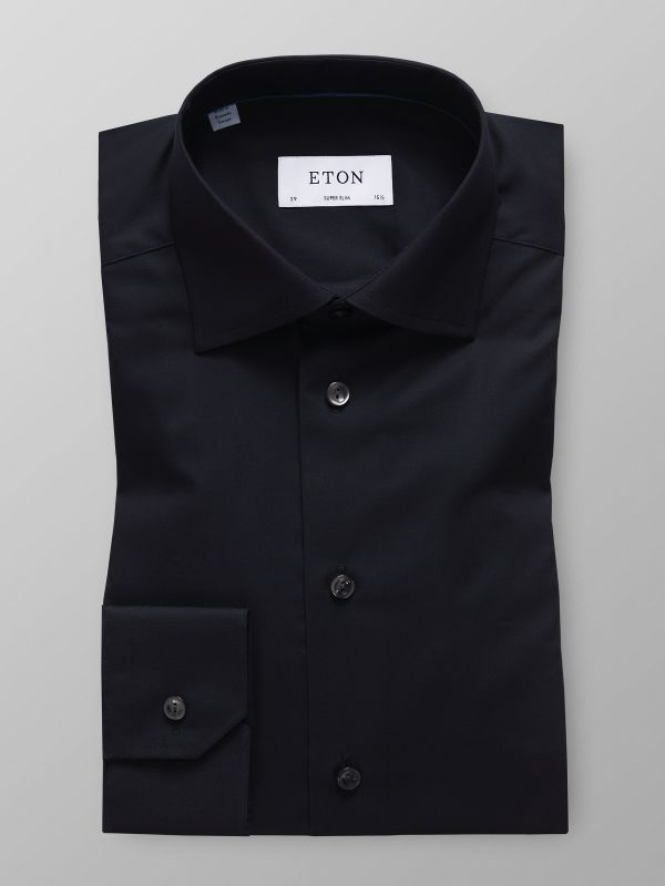 Black Twill Stretch Shirt