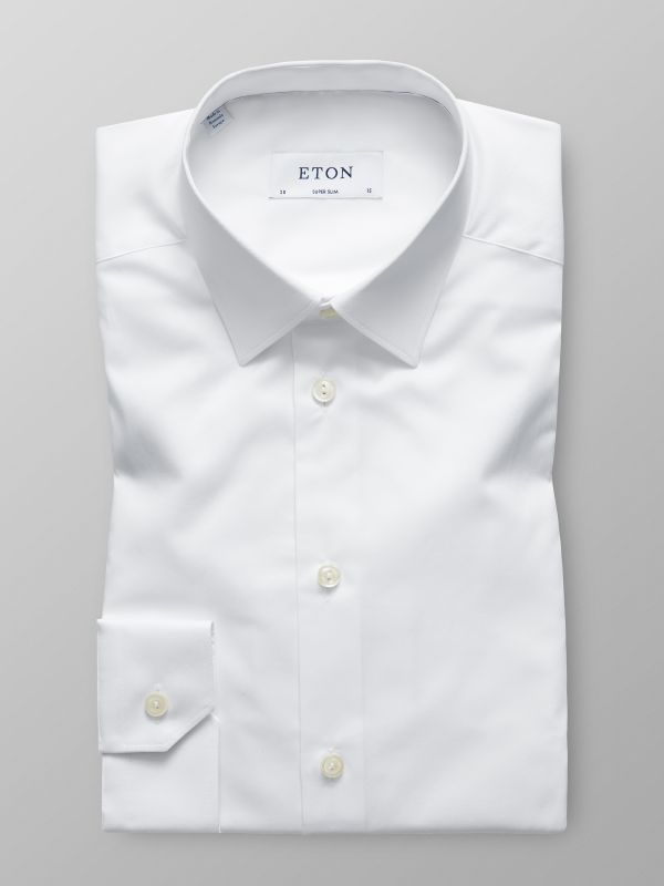 White Twill Stretch Shirt