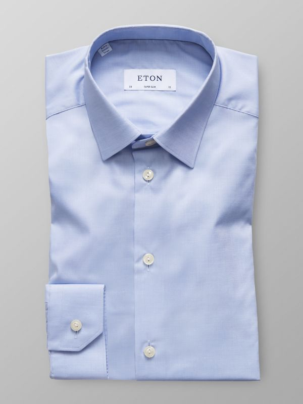 Sky Blue Twill Stretch Shirt