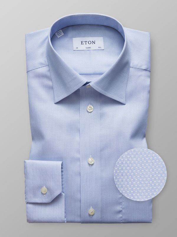 Blue Mechanical Stretch Shirt