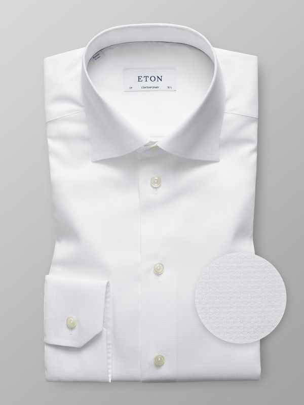 White Mechanical Stretch Shirt