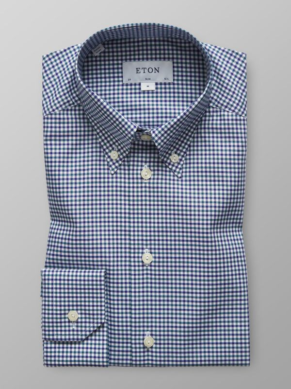Blue & Green Check Shirt