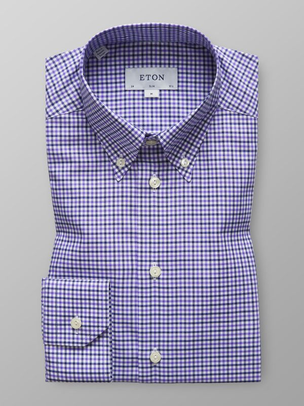 Blue & Purple Check Shirt
