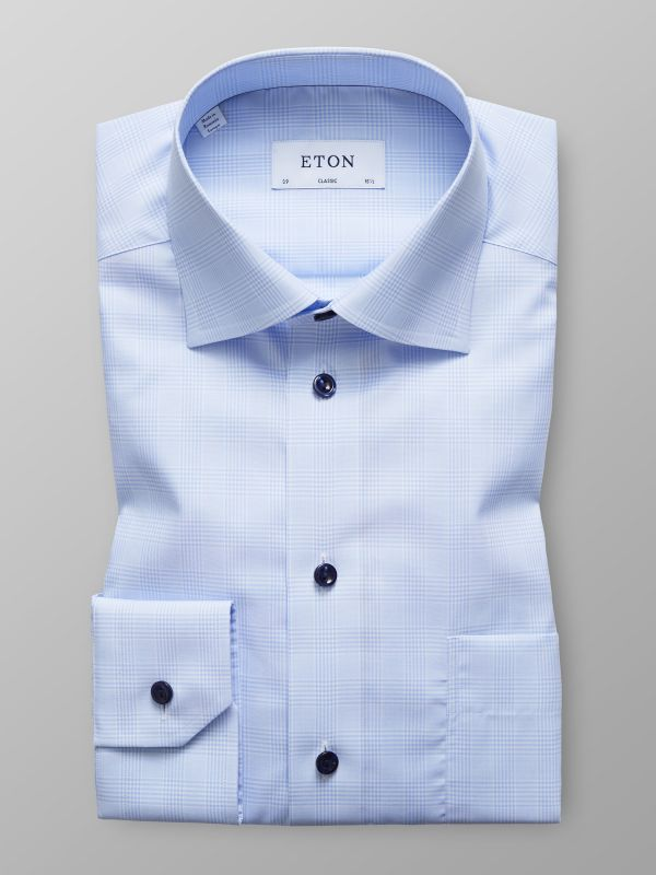 Check Navy Buttons Shirt