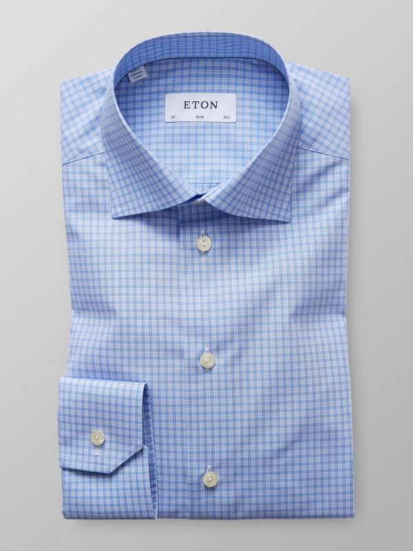Sky Blue Check Shirt