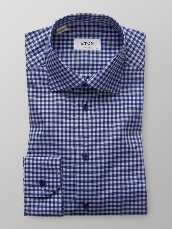 Light Blue Check Shirt