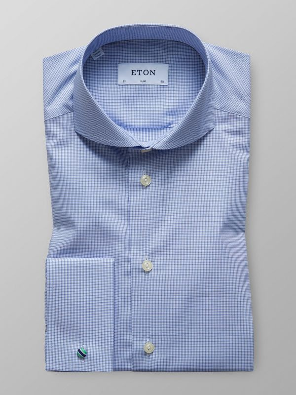 Fine Check French Cuff Shirt