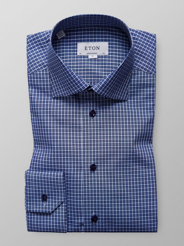 Blue Fine Check Shirt