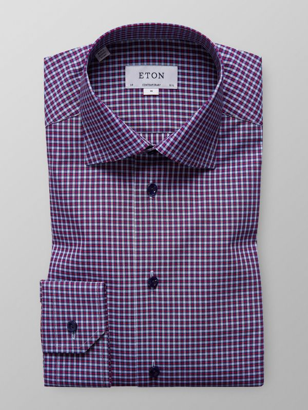 Red Fine Check Shirt