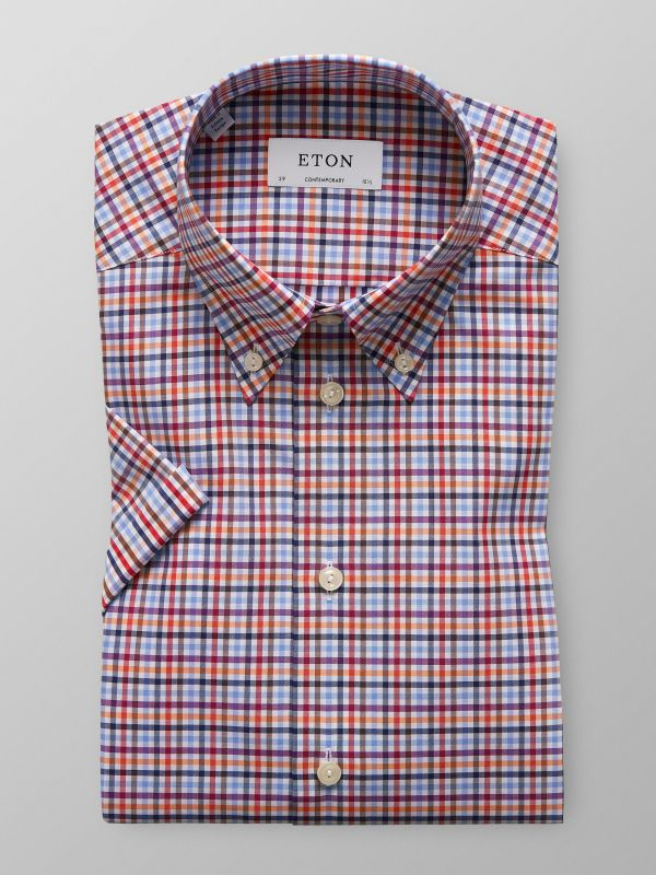 Multi Colour Short Sleeve Check Shirt