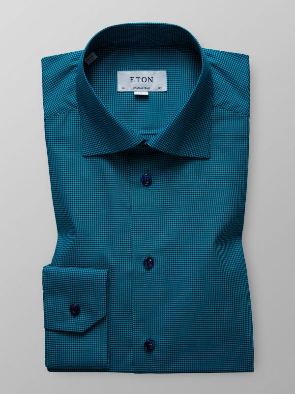 Green Fine Check Shirt