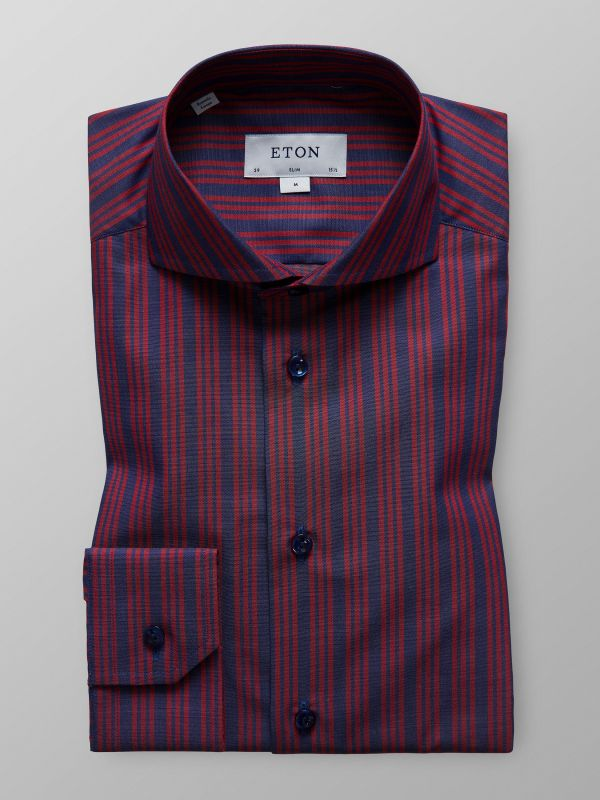 Red Striped Twill Shirt