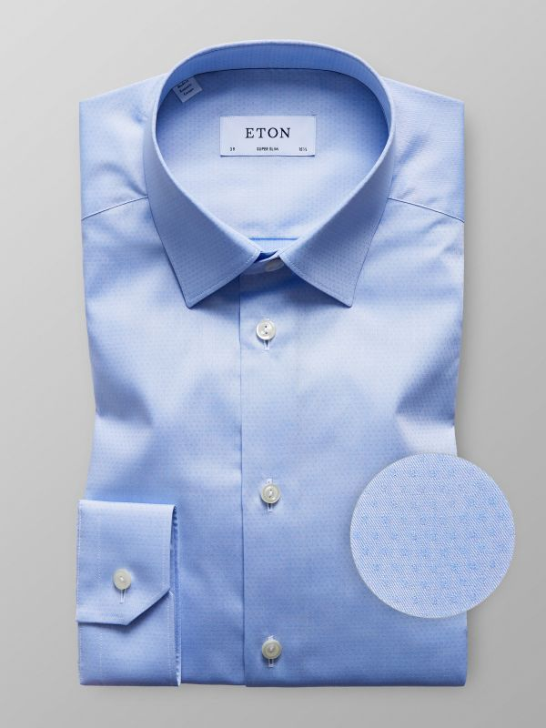 Light Blue Dobby Twill Shirt
