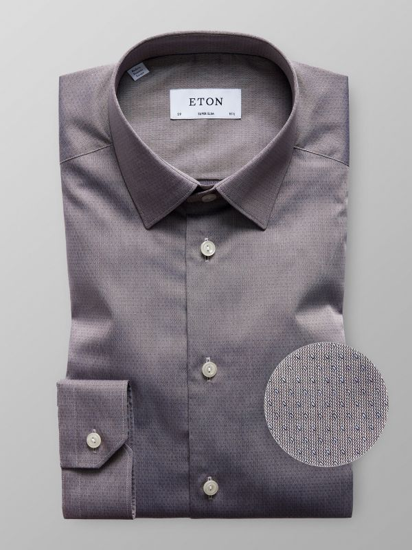Brown Dobby Twill Shirt