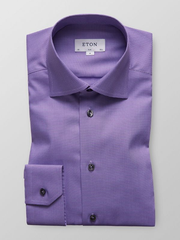Purple Hound's Tooth Shirt