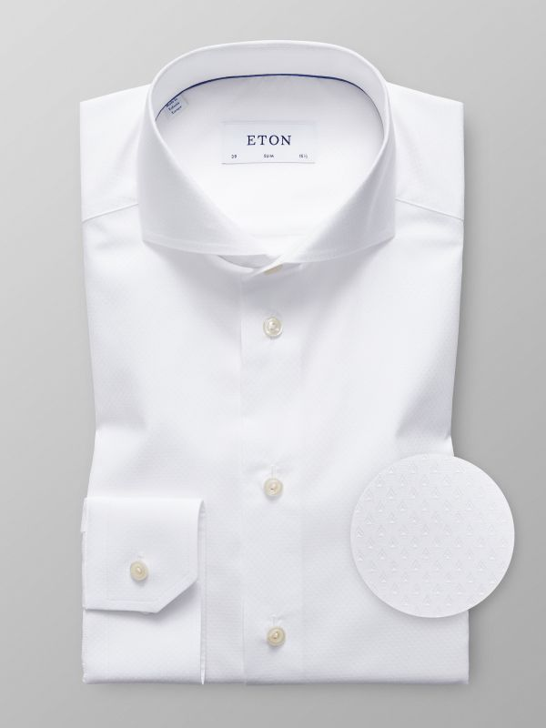 White Geometrical Shirt
