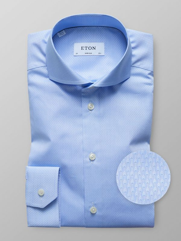 Sky Blue Dobby Effect Shirt
