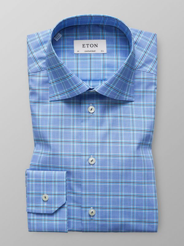 Grey & Blue Check Shirt