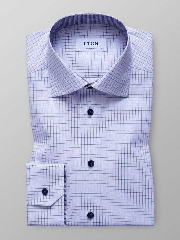Check Twill Shirt With Trim Details