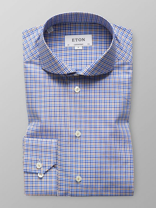 Brown & Blue Check Shirt