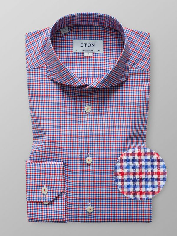 Blue & Red Check Shirt